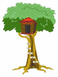 Tree House embroidery design