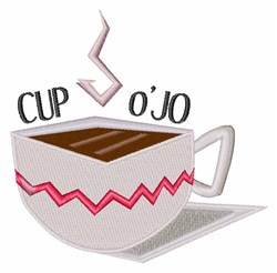 Cup O Jo embroidery design