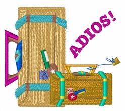 Adios embroidery design