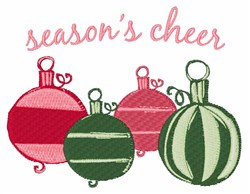 Seasons Cheer embroidery design