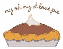 Love Pie embroidery design