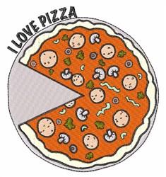Love Pizza embroidery design