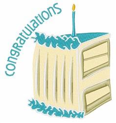 Congratulations Cake embroidery design