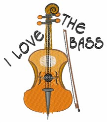 Love The Bass embroidery design