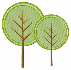 Round Trees embroidery design