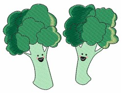Happy Broccoli embroidery design