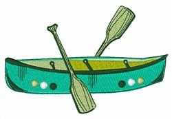 Canoe Boat embroidery design