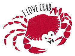Love Crab embroidery design