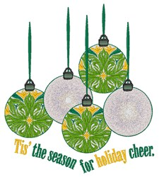 Holiday Cheer embroidery design