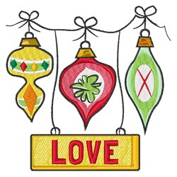 Christmas Love embroidery design