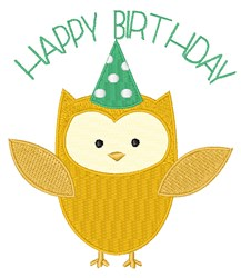 Birthday Owl embroidery design