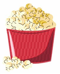 Bucket Of Popcorn embroidery design