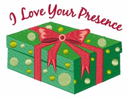Love Your Presence embroidery design