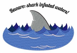 Shark Infested embroidery design