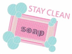 Stay Clean embroidery design