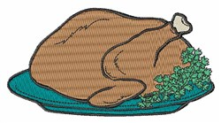 Cooked Turkey embroidery design