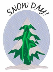 Snow Day embroidery design