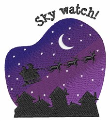 Sky Watch embroidery design