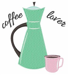 Coffee Lover embroidery design