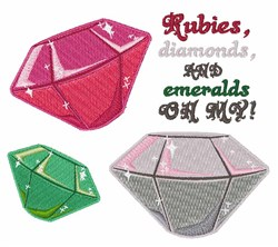 Emeralds Oh My embroidery design