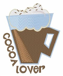 Cocoa Lover embroidery design
