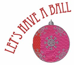 Have A Ball embroidery design