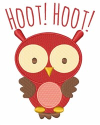 Hoot Hoot embroidery design