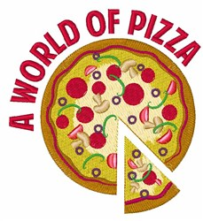 World Of Pizza embroidery design