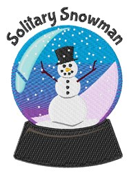 Solitary Snowman embroidery design