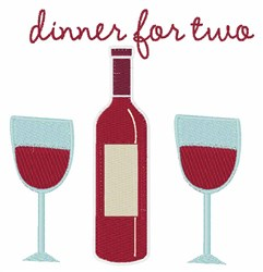 Dinner For Two embroidery design