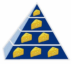Cheese Pyramid embroidery design