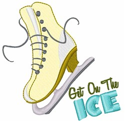 On The Ice embroidery design