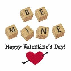 Be Mine Valentine embroidery design