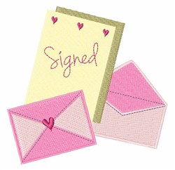 Signed Stationary embroidery design
