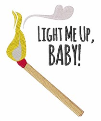Light Me Up embroidery design