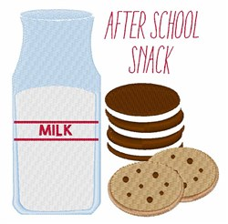 After School Snack embroidery design