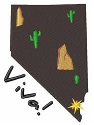 Viva Nevada embroidery design
