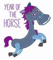 Year of the Horse embroidery design