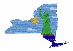 NY State embroidery design