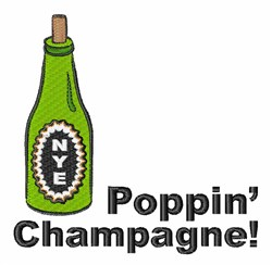 Poppin Champagne embroidery design