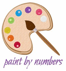 Paint by Numbers embroidery design