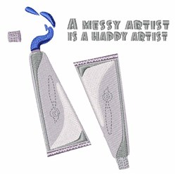 Happy Artist embroidery design