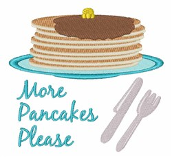 More Pancakes Please embroidery design
