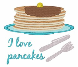 Love Pancakes embroidery design