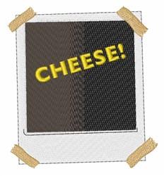 Polaroid Cheese embroidery design