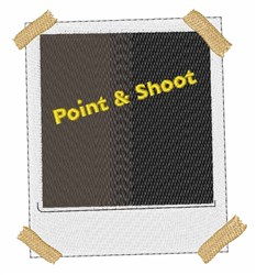 Point & Shoot embroidery design