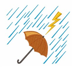 Lightning Umbrella embroidery design