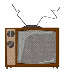 Old TV embroidery design