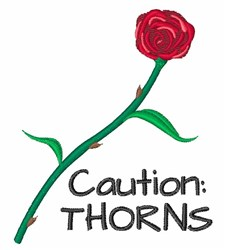 Caution: Thorns embroidery design