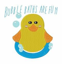 Bubble Baths embroidery design